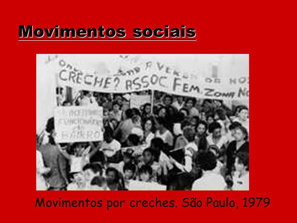 Movimentos sociais Movimentos por creches. São Paulo, 1979