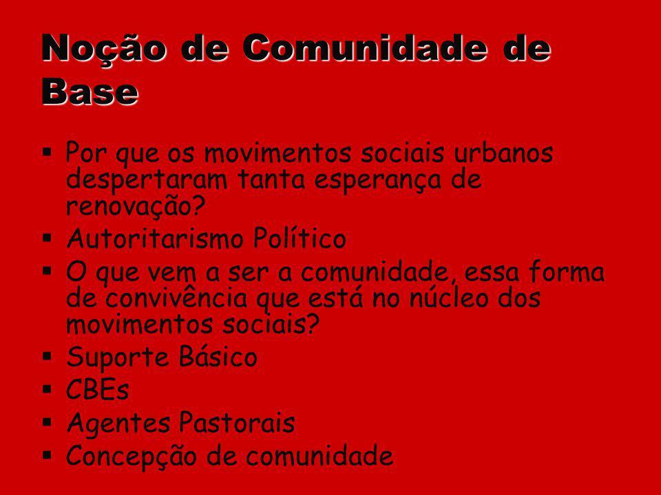Noção de Comunidade de Base