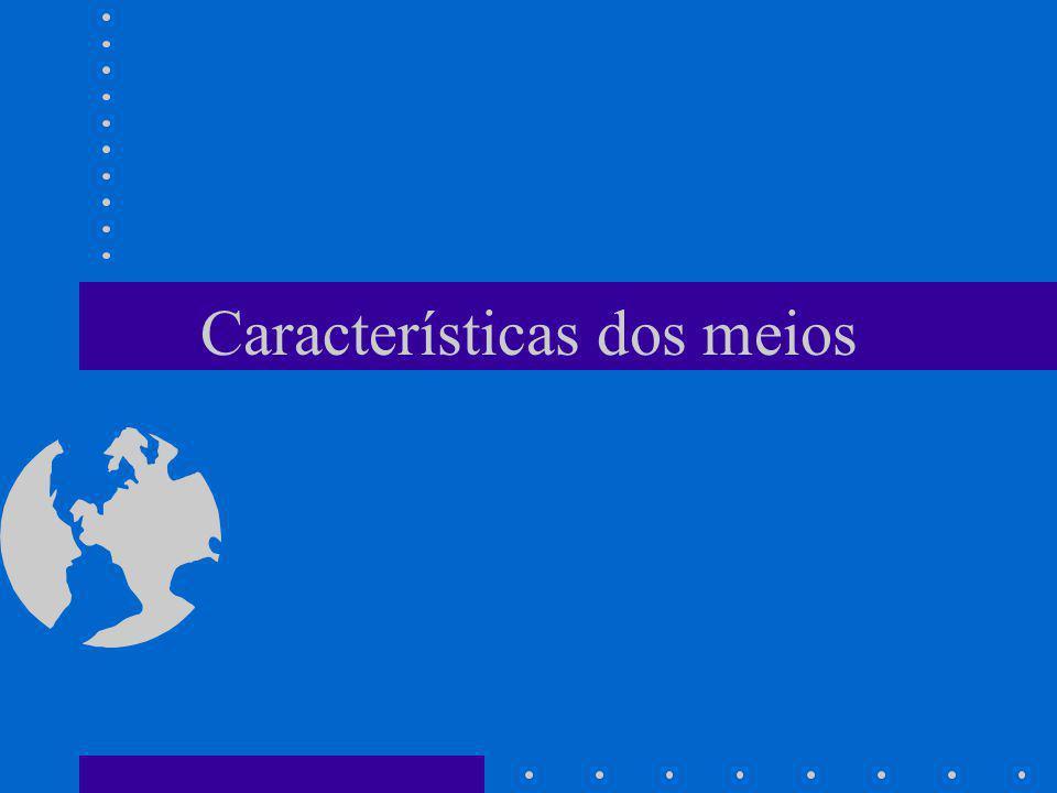 Características dos meios