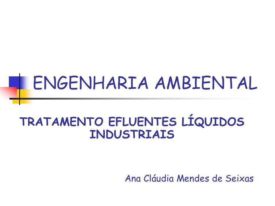 TRATAMENTO EFLUENTES LÍQUIDOS INDUSTRIAIS Ana Cláudia Mendes de Seixas