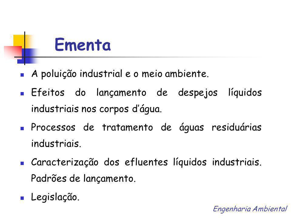 Ementa A poluição industrial e o meio ambiente.