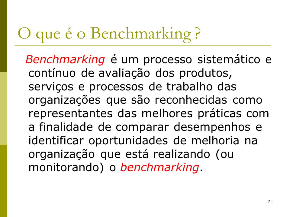 O que é o Benchmarking
