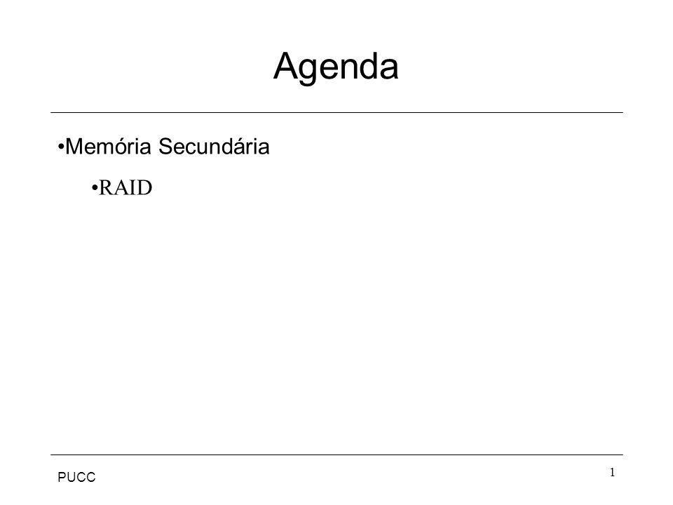 Agenda Memória Secundária RAID