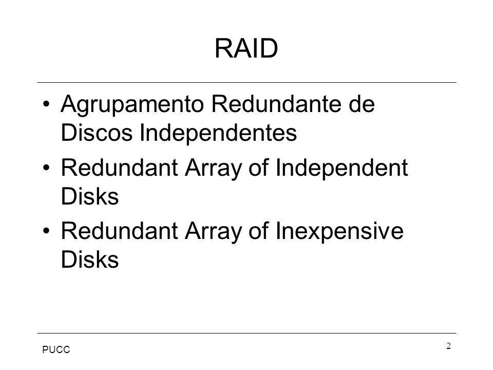 RAID Agrupamento Redundante de Discos Independentes
