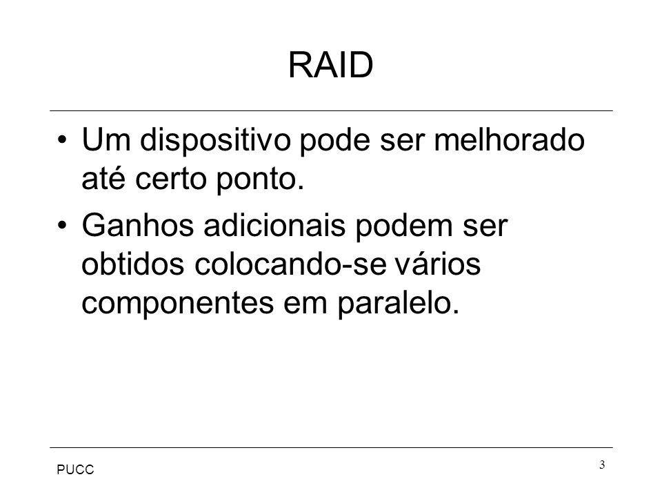 RAID Um dispositivo pode ser melhorado até certo ponto.