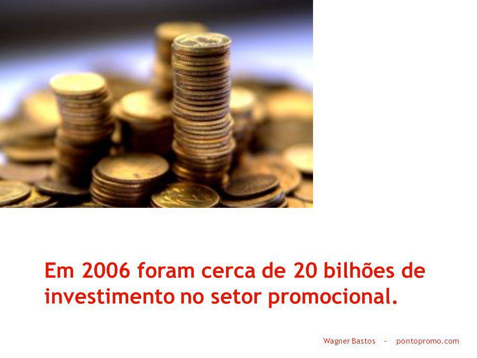 Em 2006 foram cerca de 20 bilhões de investimento no setor promocional.