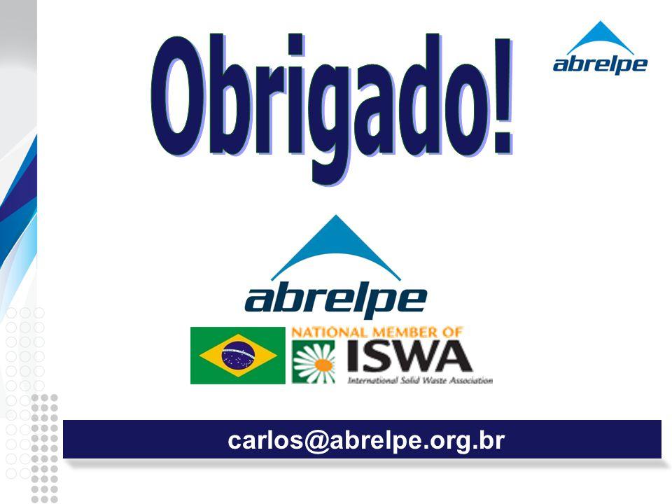 Obrigado! carlos@abrelpe.org.br