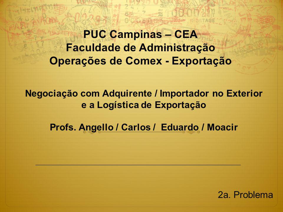 Profs. Angello / Carlos / Eduardo / Moacir