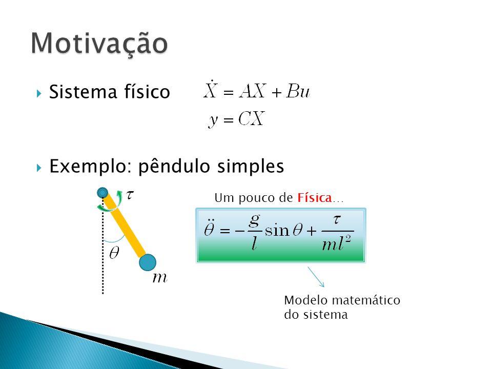 Motivação Sistema físico Exemplo: pêndulo simples Um pouco de Física…