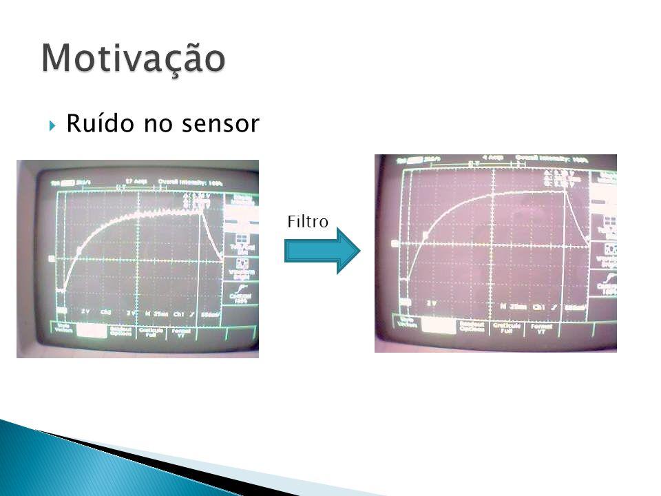 Motivação Ruído no sensor Filtro