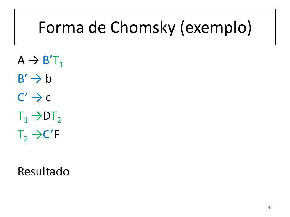 Forma de Chomsky (exemplo)