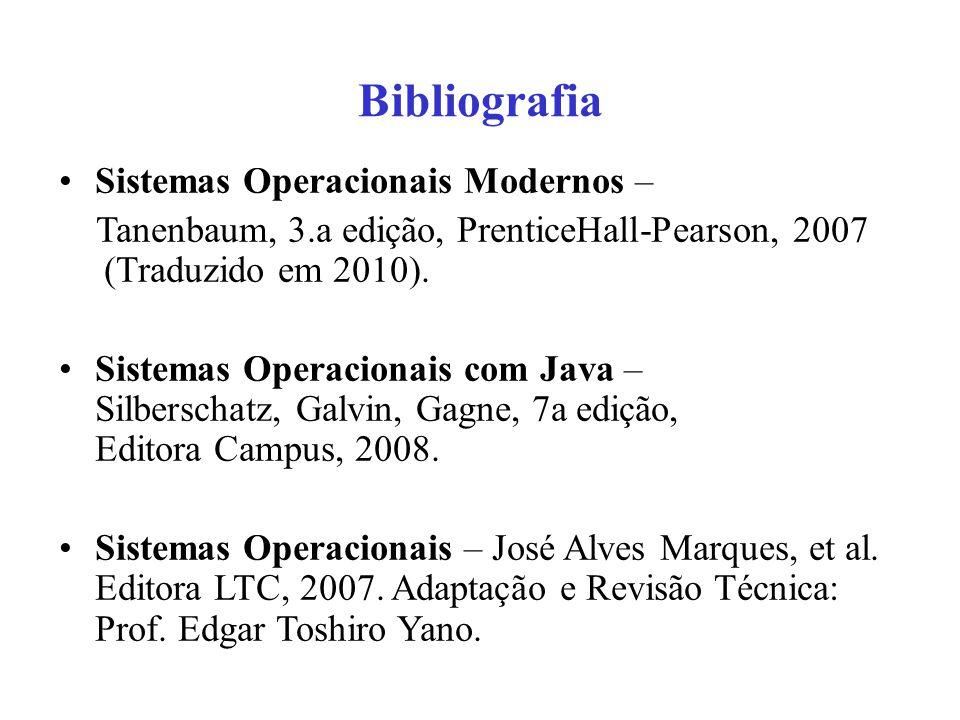 Bibliografia Sistemas Operacionais Modernos –