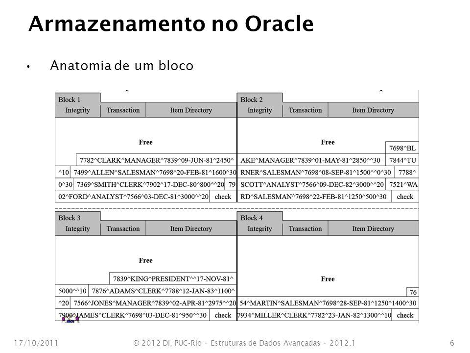 Armazenamento no Oracle