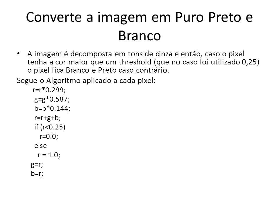 Converte a imagem em Puro Preto e Branco