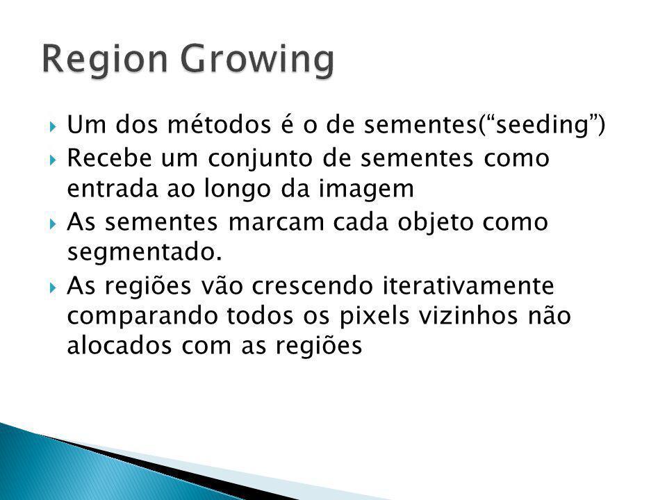 Region Growing Um dos métodos é o de sementes( seeding )
