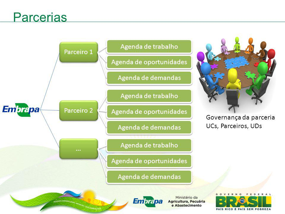 Parcerias Agenda de trabalho Parceiro 1 Agenda de oportunidades