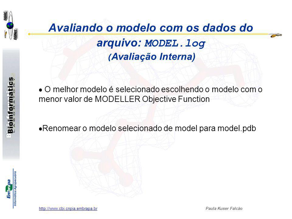 Avaliando o modelo com os dados do arquivo: MODEL
