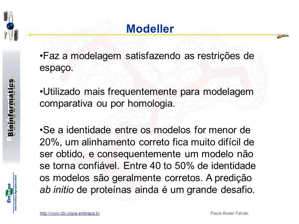 Modeller Faz a modelagem satisfazendo as restrições de espaço.