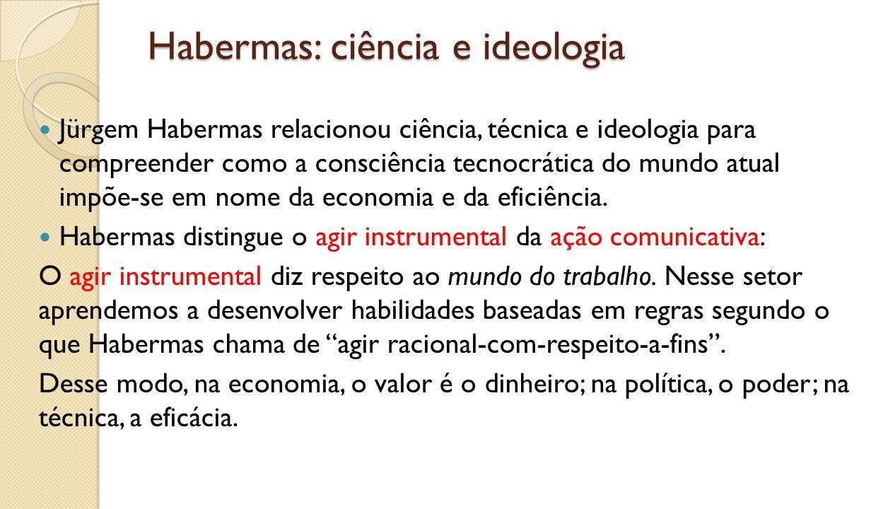 Habermas: ciência e ideologia
