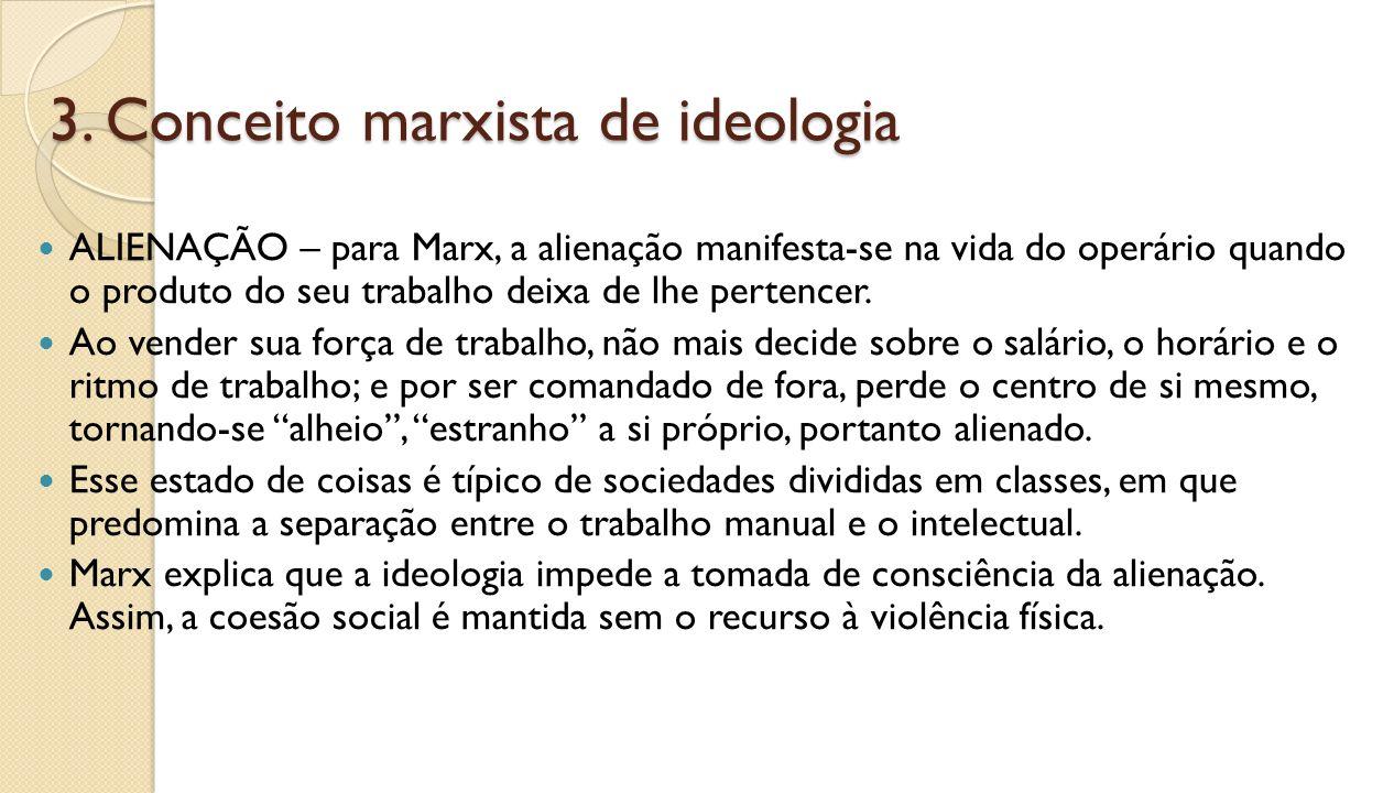 3. Conceito marxista de ideologia