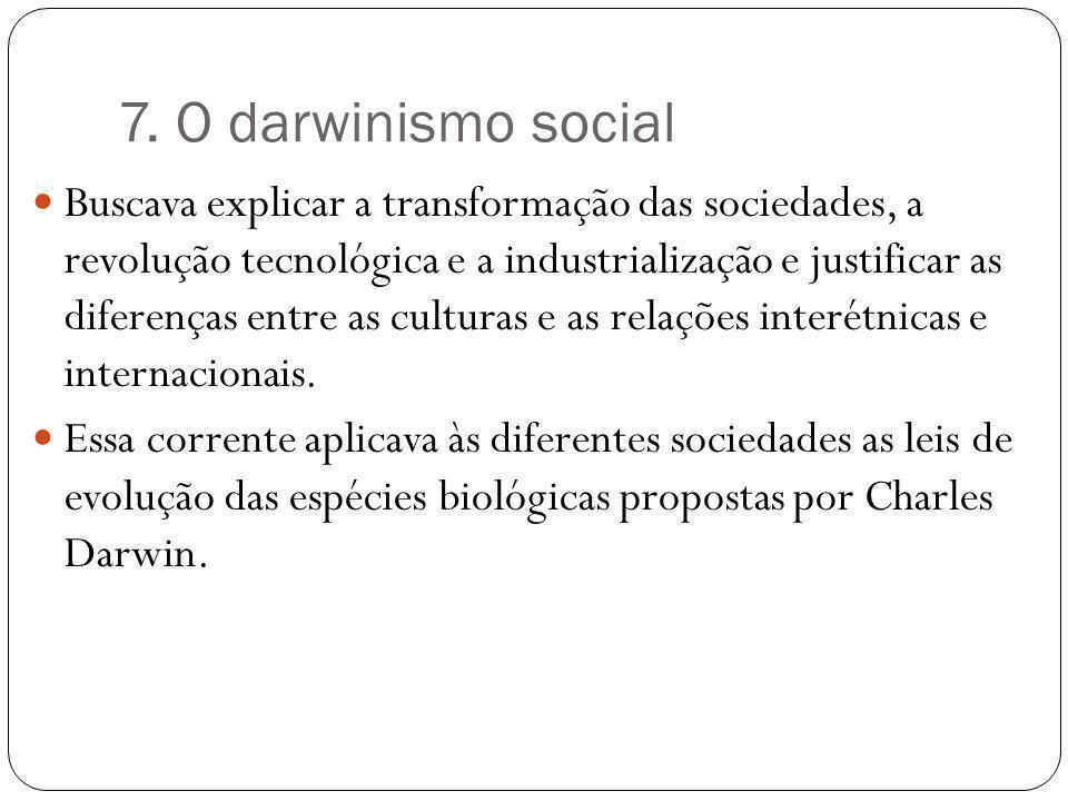7. O darwinismo social