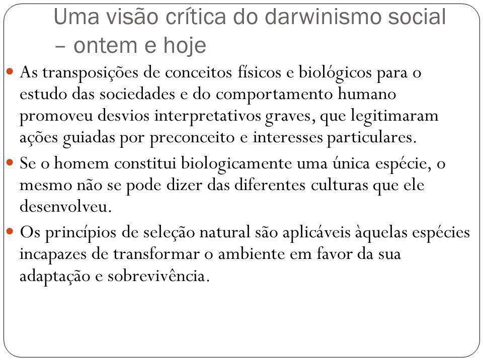 Uma visão crítica do darwinismo social – ontem e hoje