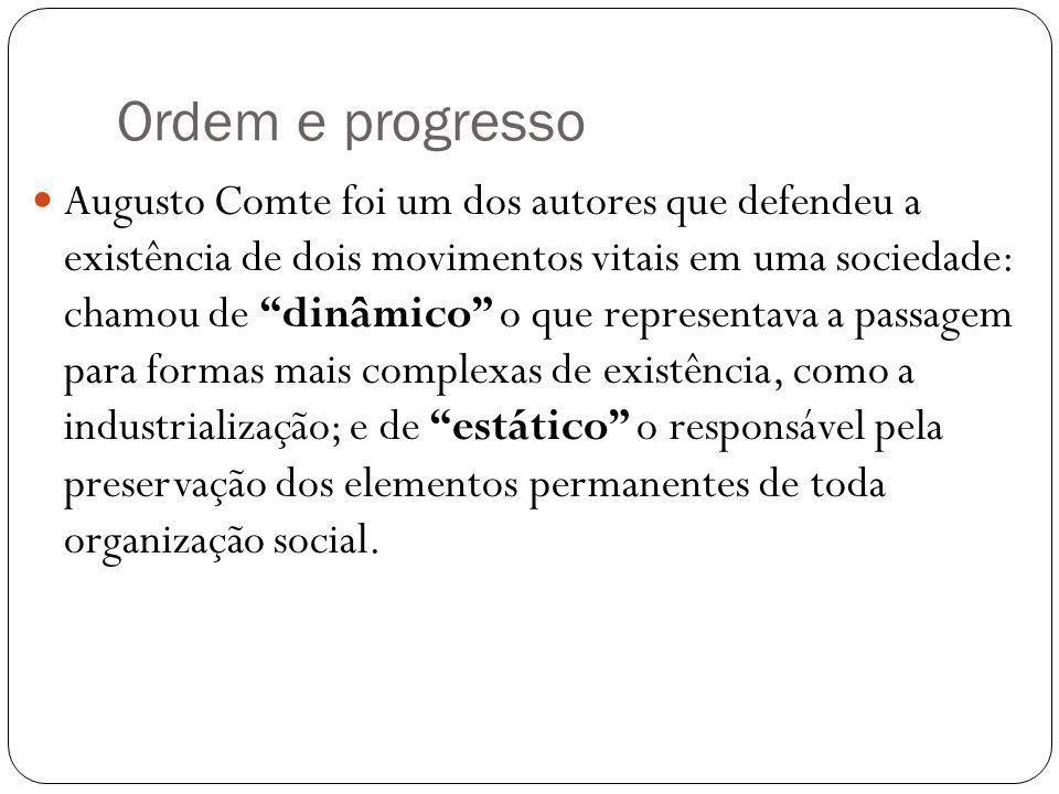 Ordem e progresso
