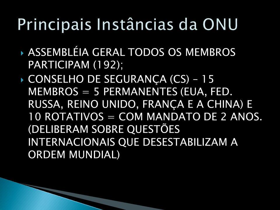 Principais Instâncias da ONU