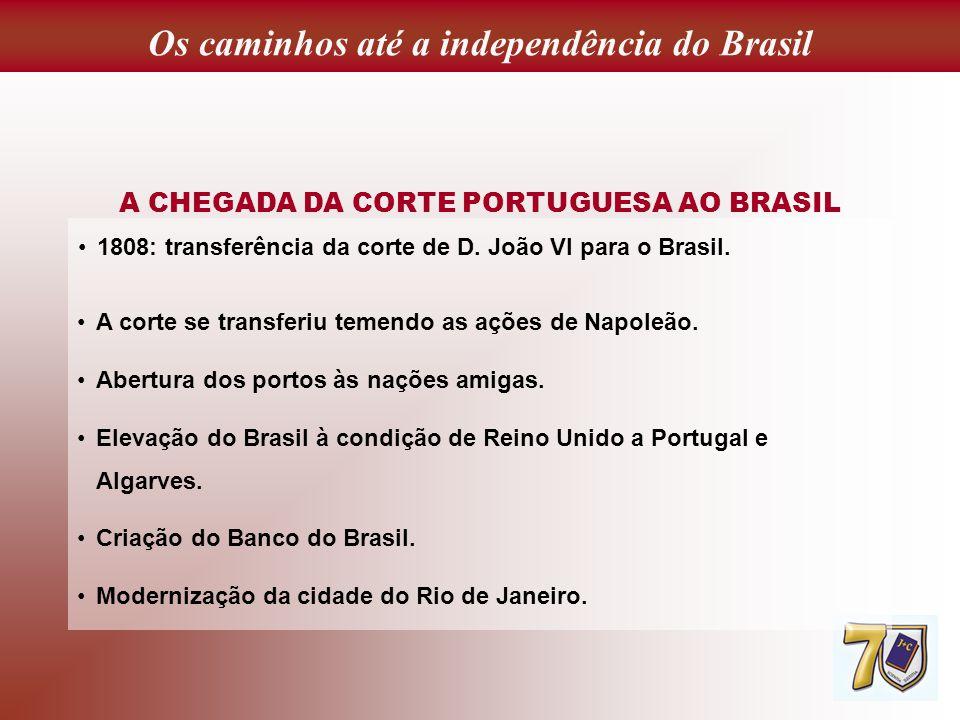 Os caminhos até a independência do Brasil