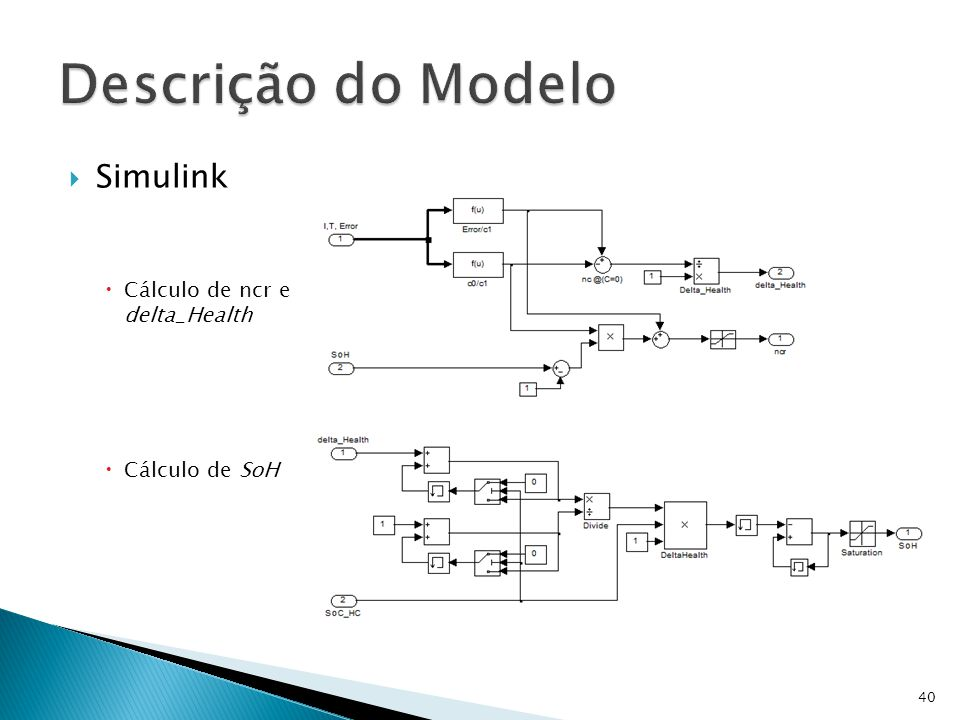 Descrição do Modelo Simulink Cálculo de ncr e delta_Health
