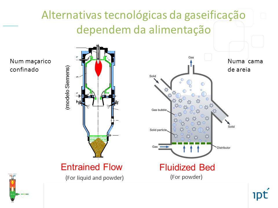Alternativas tecnológicas da gaseificação dependem da alimentação
