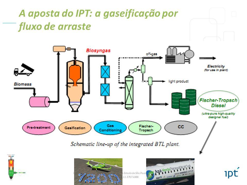 A aposta do IPT: a gaseificação por fluxo de arraste
