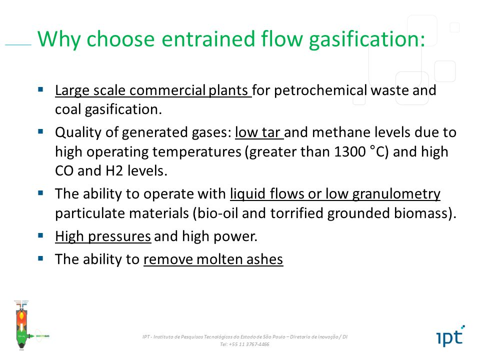Why choose entrained flow gasification: