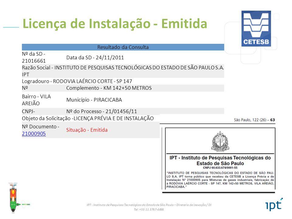 Licença de Instalação - Emitida