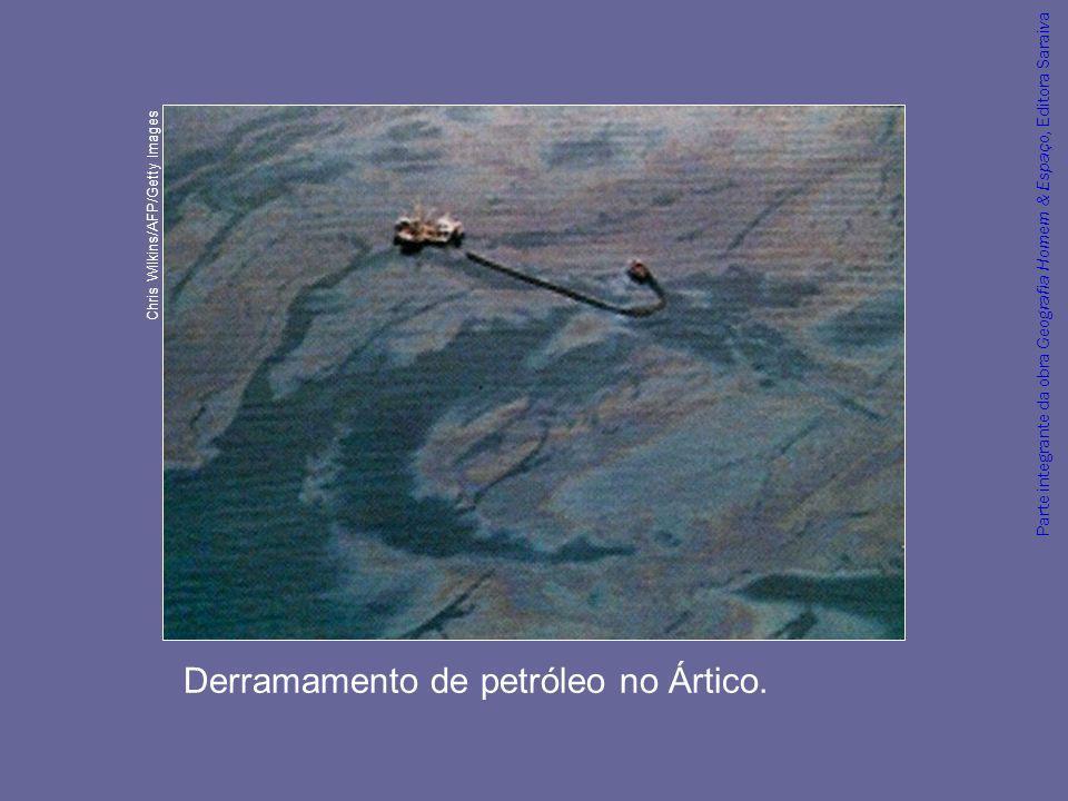 Derramamento de petróleo no Ártico.