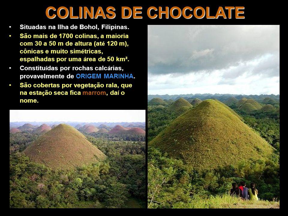 COLINAS DE CHOCOLATE Situadas na Ilha de Bohol, Filipinas.