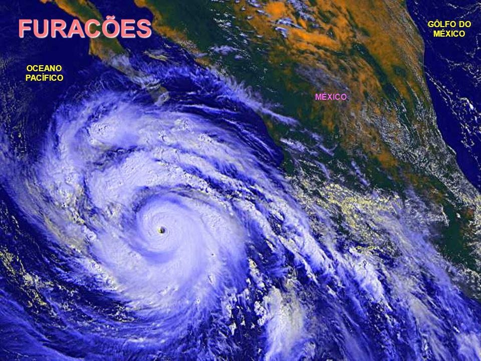 FURACÕES GÔLFO DO MÉXICO OCEANO PACÍFICO MÉXICO