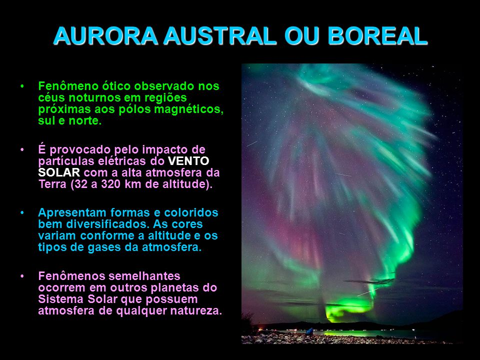 AURORA AUSTRAL OU BOREAL