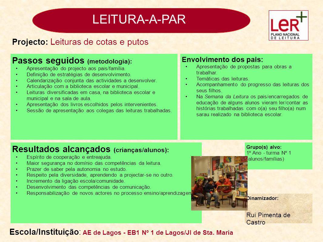 LEITURA-A-PAR Passos seguidos (metodologia):