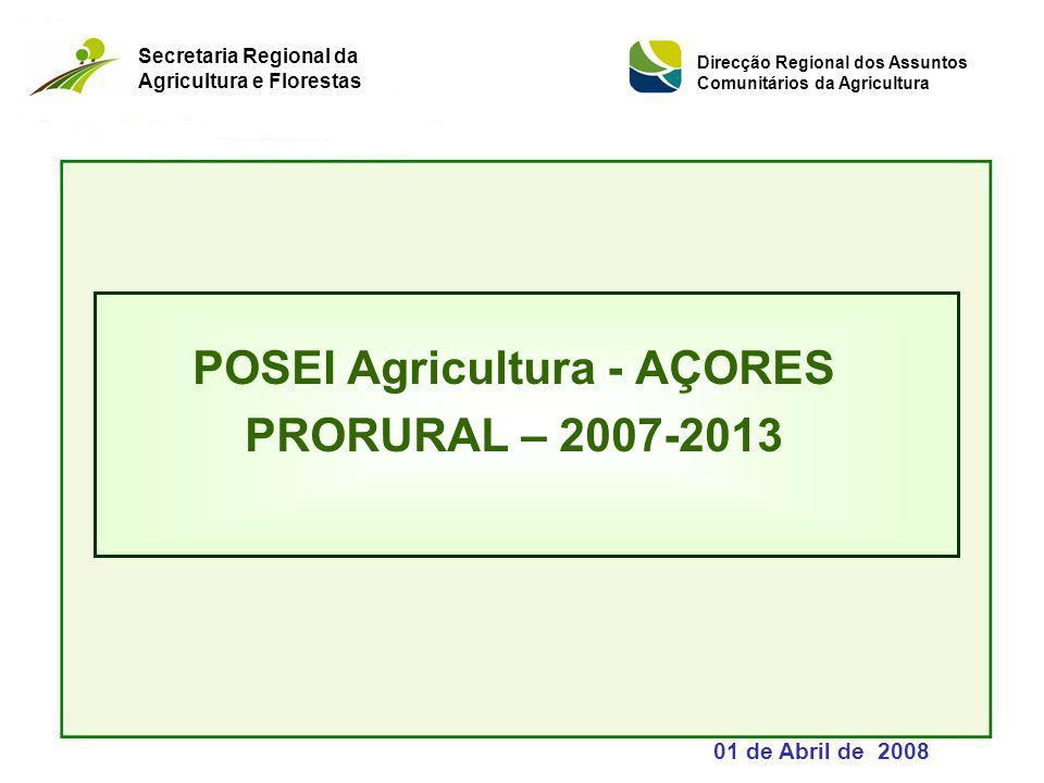 POSEI Agricultura - AÇORES PRORURAL – 2007-2013