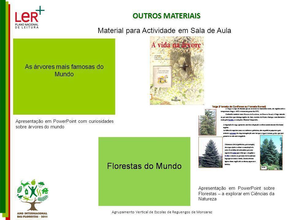 OUTROS MATERIAIS Material para Actividade em Sala de Aula