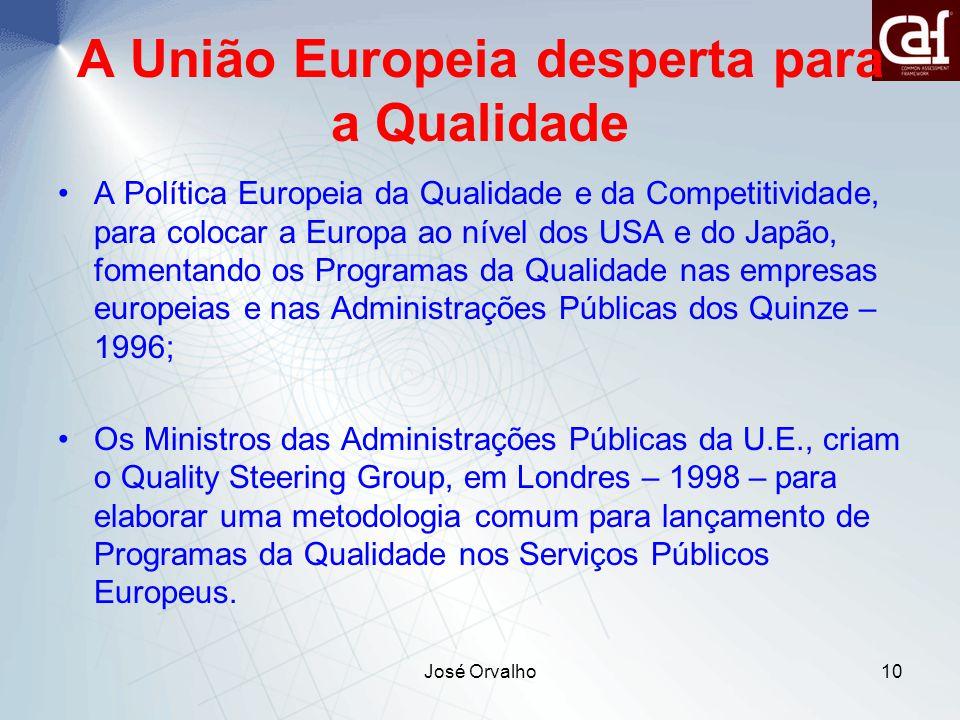 A União Europeia desperta para a Qualidade