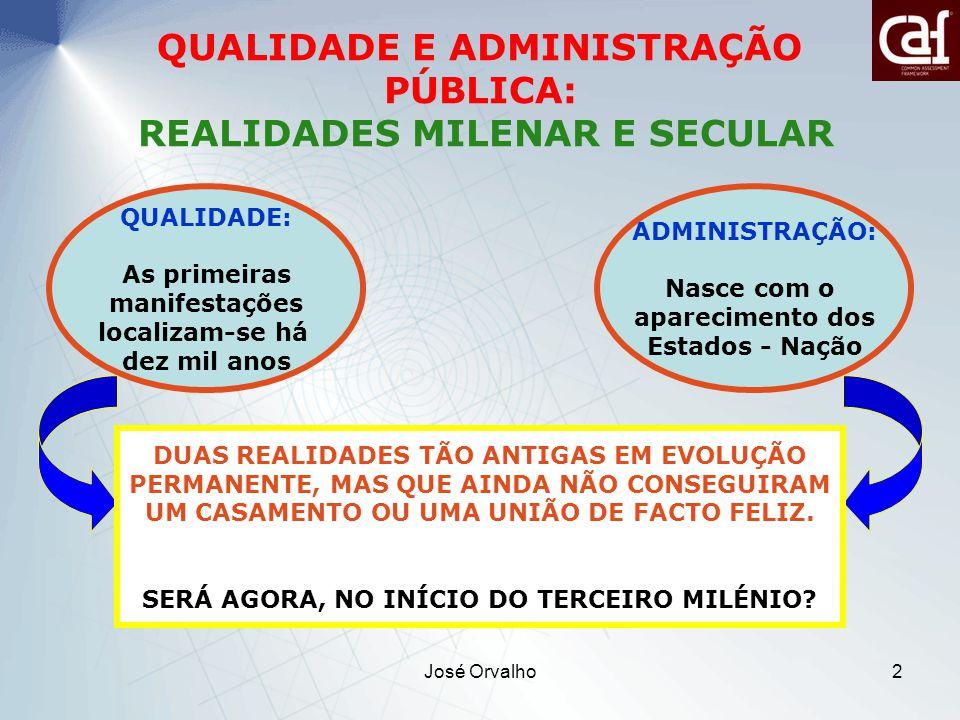 QUALIDADE E ADMINISTRAÇÃO PÚBLICA: REALIDADES MILENAR E SECULAR