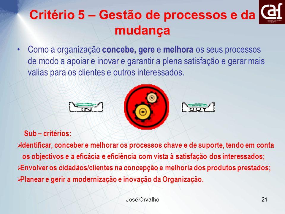 Critério 5 – Gestão de processos e da mudança