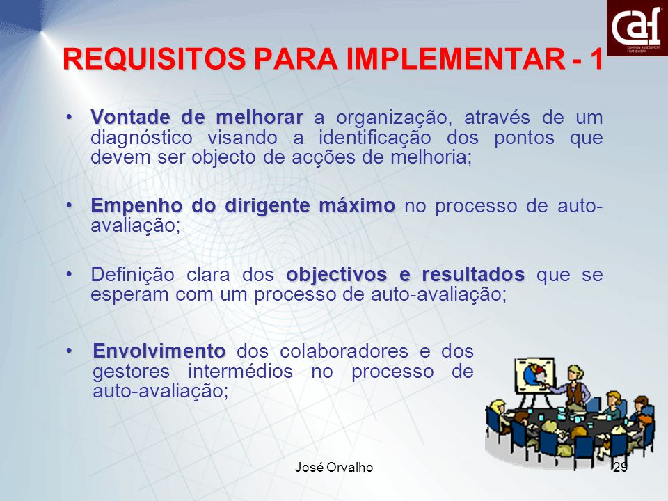 REQUISITOS PARA IMPLEMENTAR - 1