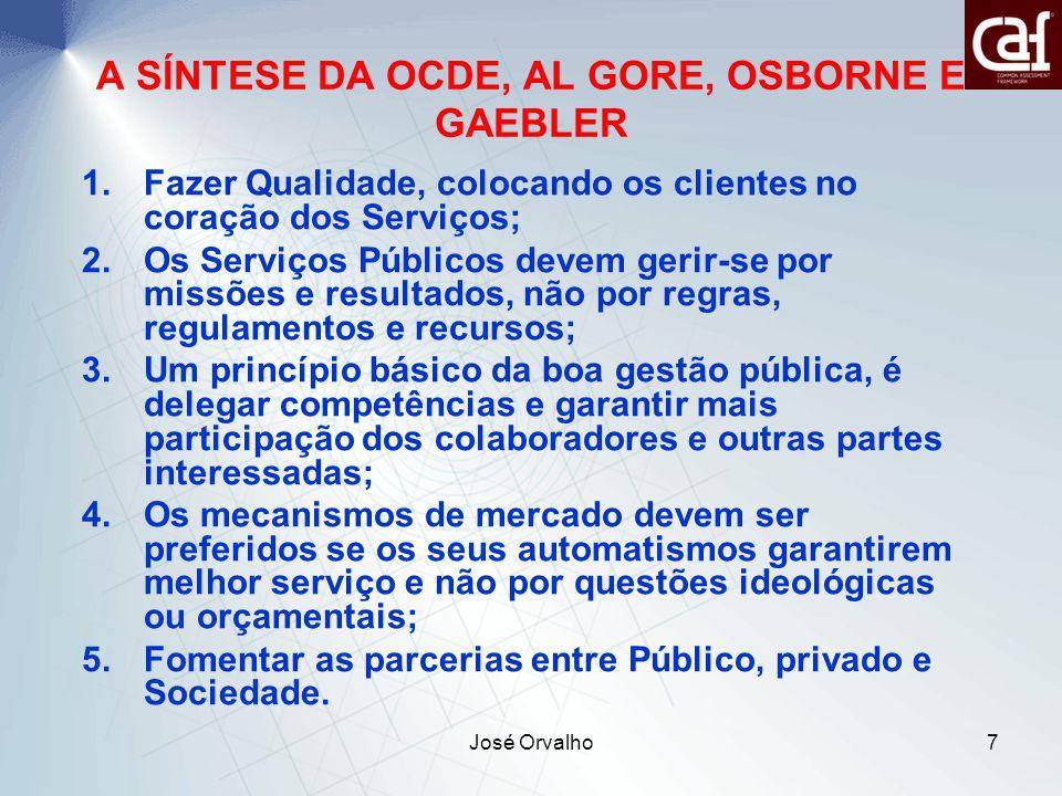 A SÍNTESE DA OCDE, AL GORE, OSBORNE E GAEBLER