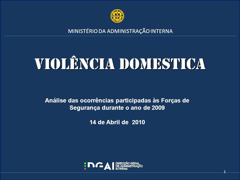 Violência domEstica MINISTÉRIO DA ADMINISTRAÇÃO INTERNA