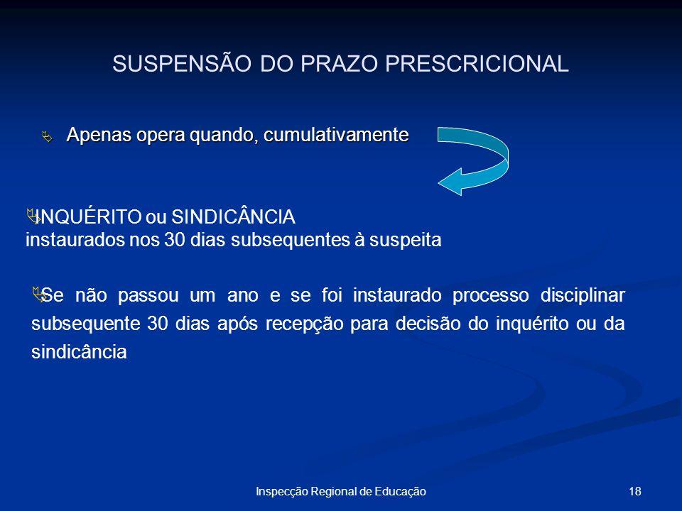 SUSPENSÃO DO PRAZO PRESCRICIONAL