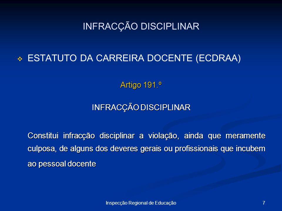 INFRACÇÃO DISCIPLINAR