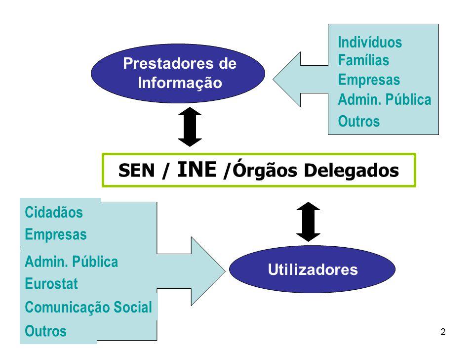 SEN / INE /Órgãos Delegados